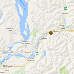 Map showing location of Hunter Creek Hydro Project