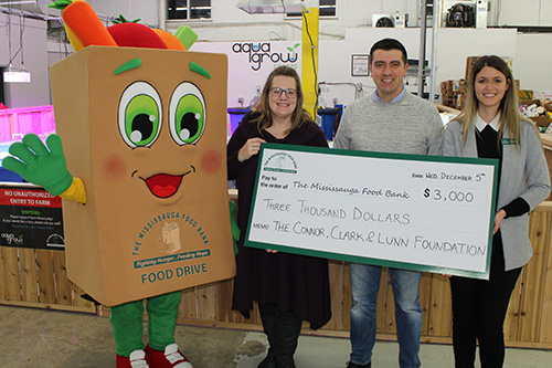 Photo of donation to the Mississauga Food Bank