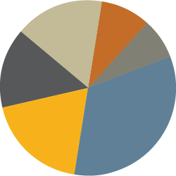 Pie chart showing individual investors by location